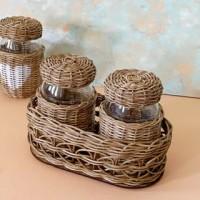 wicker spice basket